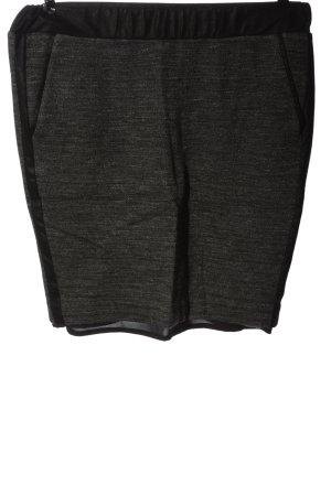 Comma Midirock hellgrau-schwarz meliert Elegant