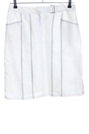Comma Spódnica midi biały W stylu casual