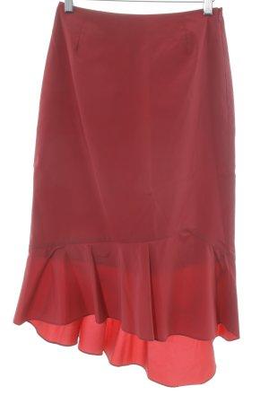 Comma Spódnica midi ciemnoczerwony Wygląd w stylu miejskim