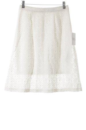 Comma Spódnica midi w kolorze białej wełny Siateczkowy wzór
