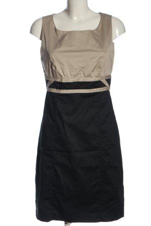 Comma Mini vestido negro-crema elegante