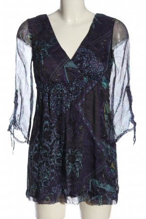 Comma Minikleid Allover-Druck Casual-Look