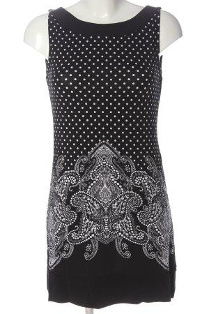 Comma Minikleid schwarz-weiß abstraktes Muster Casual-Look