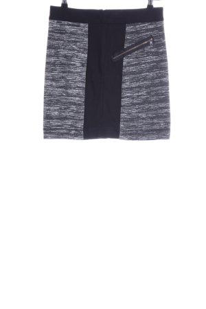 Comma Minirock weiß-schwarz meliert Casual-Look