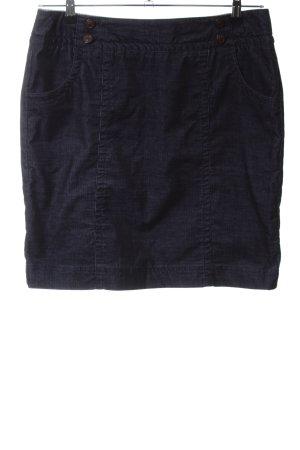 Comma Minirock blau Casual-Look