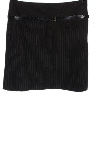 Comma Minirock schwarz-weiß Streifenmuster Casual-Look