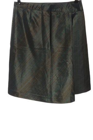 Comma Minirock khaki-braun Streifenmuster Casual-Look