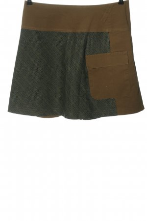 Comma Miniskirt check pattern casual look