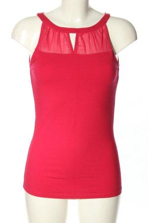 Comma Top senza maniche rosa stile casual