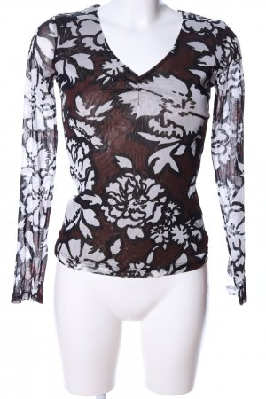 Comma Mesh Shirt flower pattern casual look