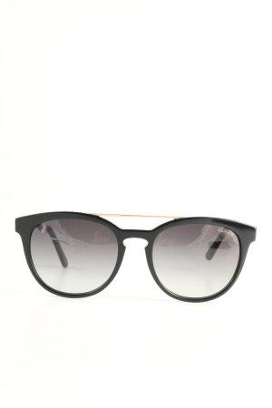 Comma Occhiale da sole ovale nero stile casual