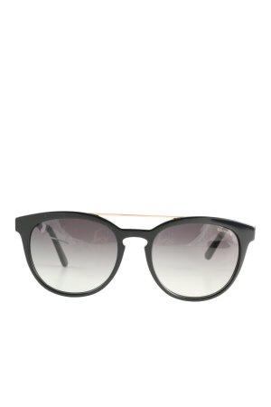 Comma Owalne okulary przeciwsłoneczne czarny W stylu casual