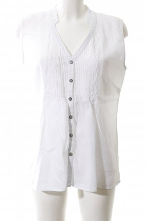 Comma Oversized Bluse weiß Casual-Look