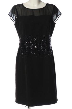 Comma Pailettenkleid schwarz Elegant