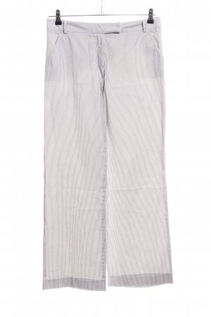 Comma Palazzo Pants light grey-white striped pattern casual look