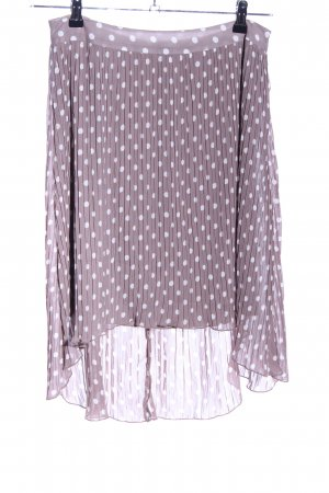 Comma Pleated Skirt lilac-white spot pattern casual look