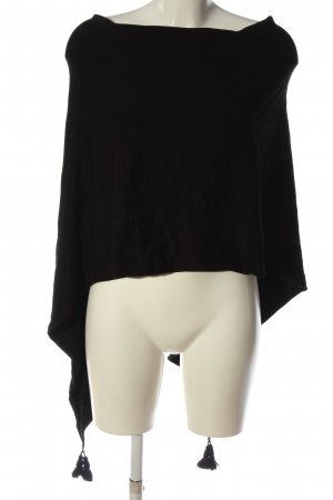 Comma Poncho black casual look