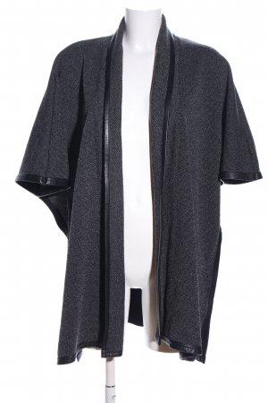 Comma Poncho hellgrau-schwarz Webmuster Business-Look