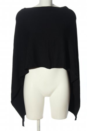 Comma Poncho negro elegante