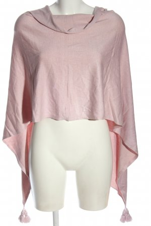 Comma Poncho rosa elegante