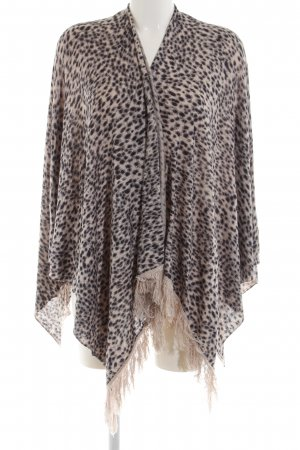 Comma Poncho dierenprint casual uitstraling