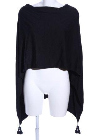Comma Poncho zwart casual uitstraling