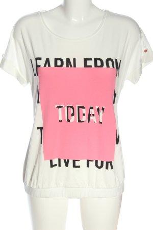 Comma T-shirt imprimé lettrage imprimé style décontracté