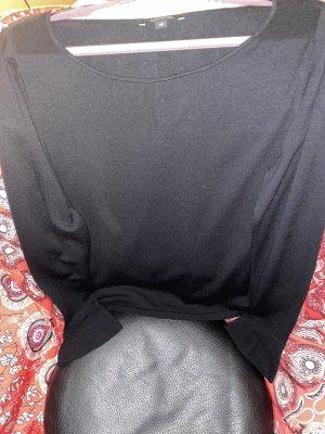 Comma Jersey de cuello redondo negro