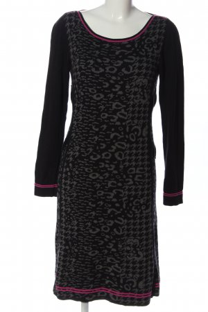 Comma Sweater Dress abstract pattern casual look