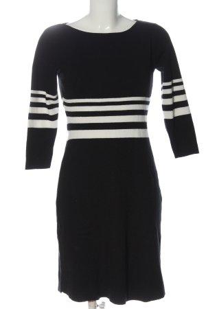 Comma Swetrowa sukienka czarny-biały Wzór w paski W stylu casual