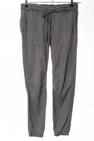 Comma Pantalon large gris clair style décontracté