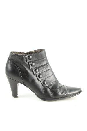 Comma Reißverschluss-Stiefeletten schwarz Casual-Look