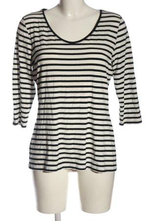 Comma Camisa de rayas blanco-negro estampado repetido sobre toda la superficie