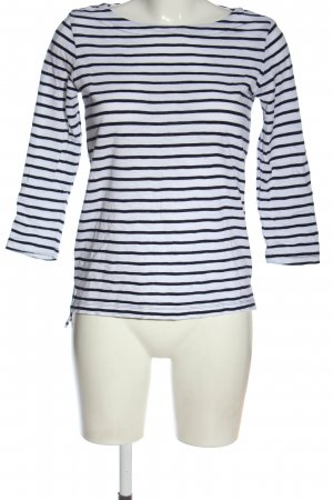 Comma Stripe Shirt blue-white striped pattern casual look