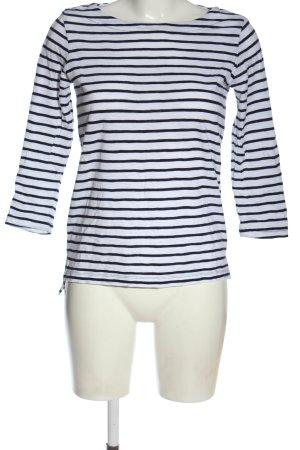 Comma Koszulka w paski niebieski-biały Wzór w paski W stylu casual