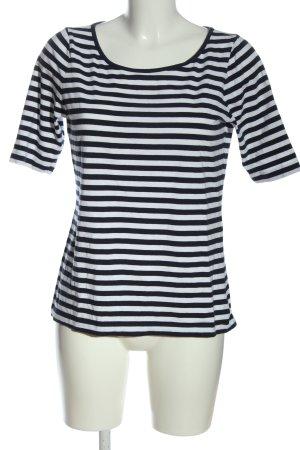 Comma Stripe Shirt white-black allover print casual look