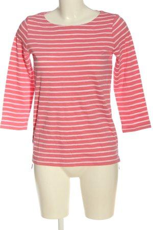 Comma Koszulka w paski różowy-biały Wzór w paski W stylu casual