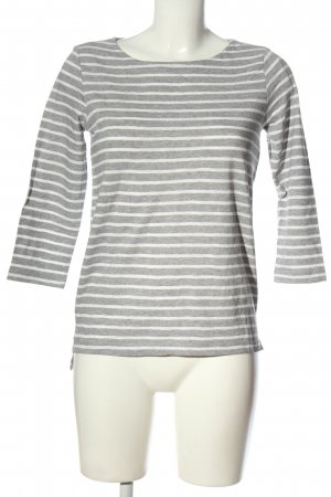 Comma Stripe Shirt light grey-white flecked casual look