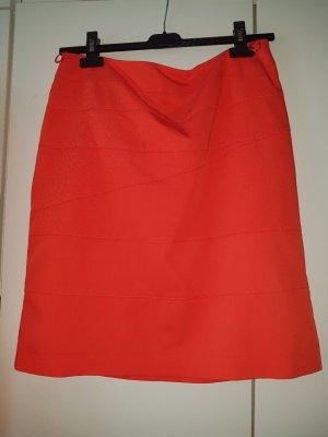 Comma Asymmetry Skirt orange
