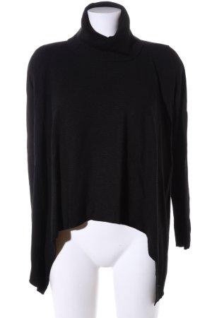 Comma Maglione dolcevita nero stile casual