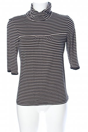 Comma Turtleneck Shirt cream-black striped pattern casual look