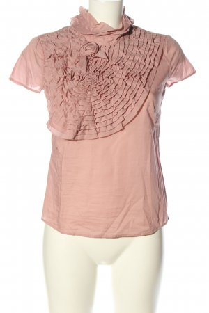 Comma Ruffled Blouse pink casual look