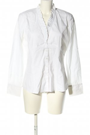 Comma Camicetta con arricciature bianco stile casual