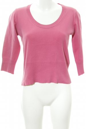 Comma Rundhalspullover pink Casual-Look