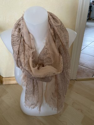 Comma Fringed Scarf pink