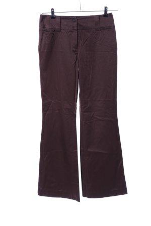 Comma Pantalon pattes d'éléphant brun style décontracté