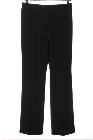 Comma Pantalon pattes d'éléphant noir style décontracté