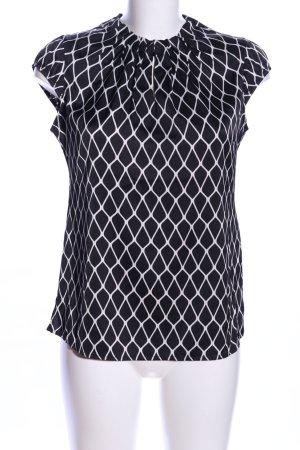 Comma Blouse à enfiler noir-blanc motif abstrait style d'affaires