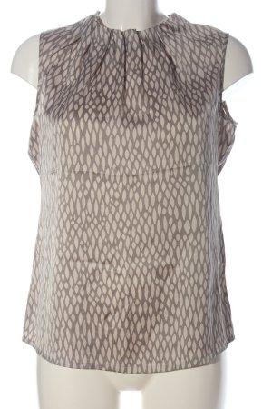 Comma Camisa de mujer marrón-crema estampado repetido sobre toda la superficie