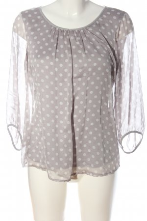Comma Slip-over Blouse light grey-white spot pattern casual look